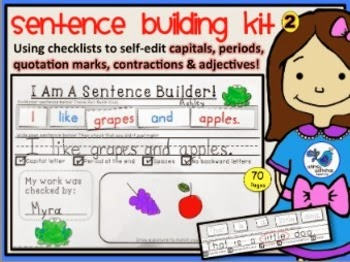 http://www.teacherspayteachers.com/Product/Sentence-Building-Kit-2-70-pgs-Whimsy-Workshop-Teaching-1044508