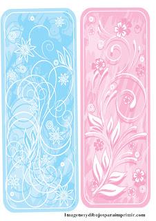 Azul y rosa celeste para flores