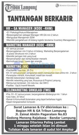 Lowongan Kerja di Tribun Lampung