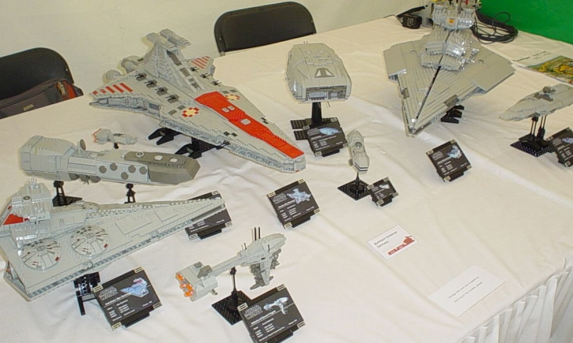 Epic Star Wars Capital Ships Made Out of Lego