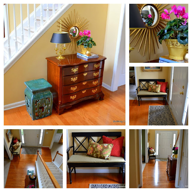 PicMonkey+Collage-foyer Traditional style home tour in Central NC!