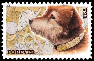 2011年アメリカ合衆国 郵便犬オウニーの切手