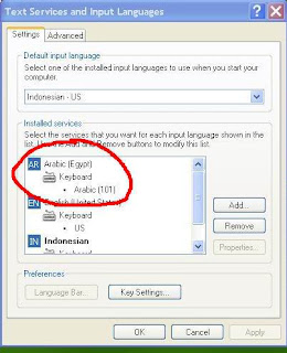 Menginstall Bahasa Arab pada Windows XP