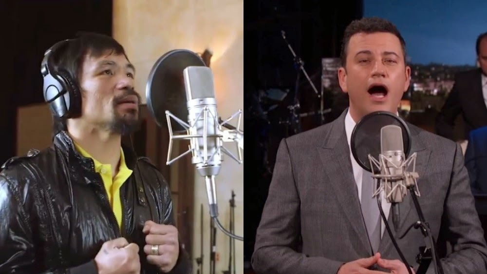 Jimmy Kimmel sings in Tagalog Manny Pacquiao's New Song