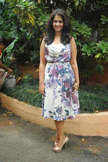 Actress Nanditha Raj Pictures Gallery in Short Dress at Ugadi Vastra Vibha Exhibition Launch  007.JPG
