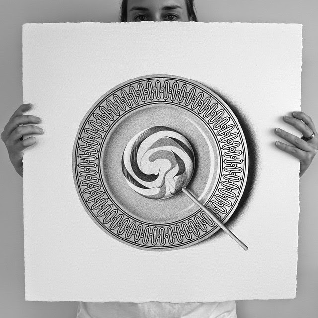 18-Lollypop-C-J-Hendry-Hyper-Realistic-Drawings-of-Food-www-designstack-co