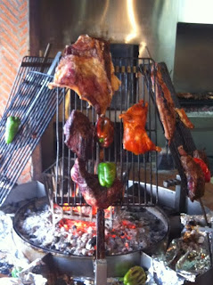 The Knife, parrilla de carne y verduras