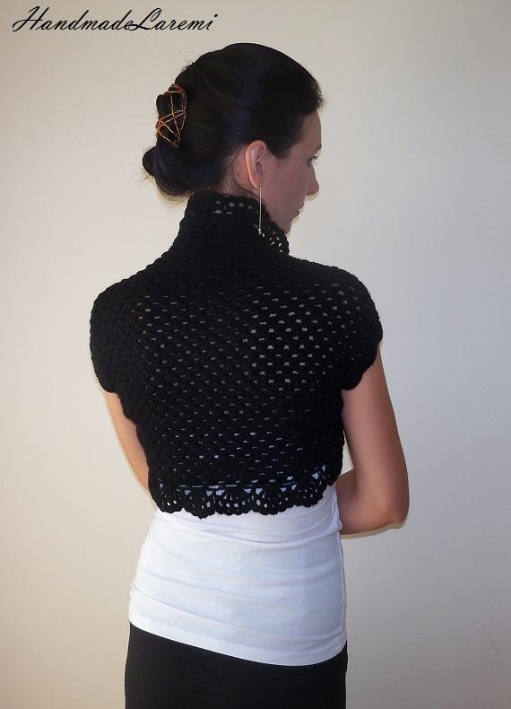 Crochet Shrug : Crochet Shrug / Wedding LACE BOLERO JACKET / Wedding Bolero Shrug ...