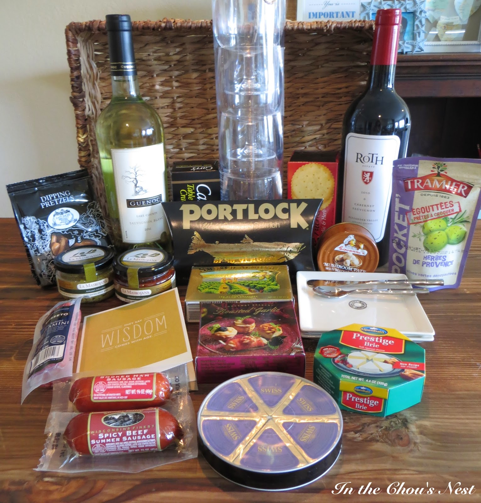 In the Chou's Nest: diy: wine gift basket