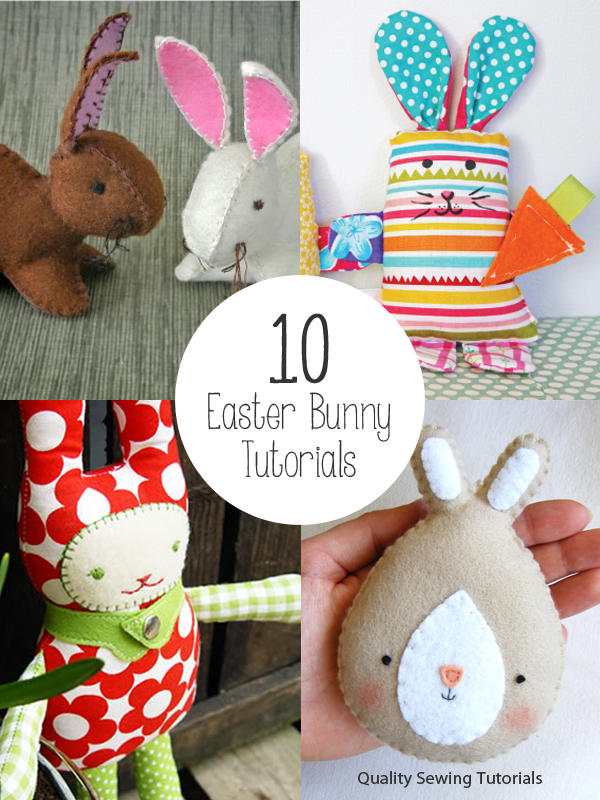Ten Easter Bunny free tutorials
