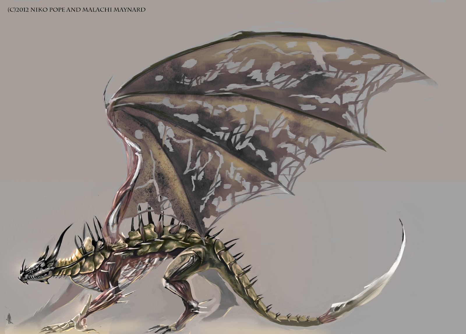 art of niko pope  underworld dragon