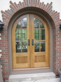 Arched, oak, custom, doors, huisman, John, Ely, mn