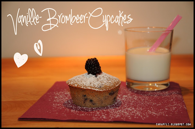 rezept brombeer vanille cupcake