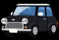コンパクトカーのイラスト(黒)