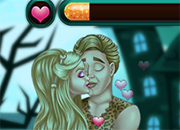Barbie Halloween Kissing juego