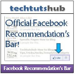 "Officially Facebook Introduced/Announced New Social Plugin ""Facebook Recommendation Bar"" in beta Version.That Plugin show additional recommended articles or post after readers/visitors have complete reading an post or served some time on your blog/website."