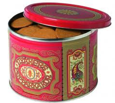The traditional red tin