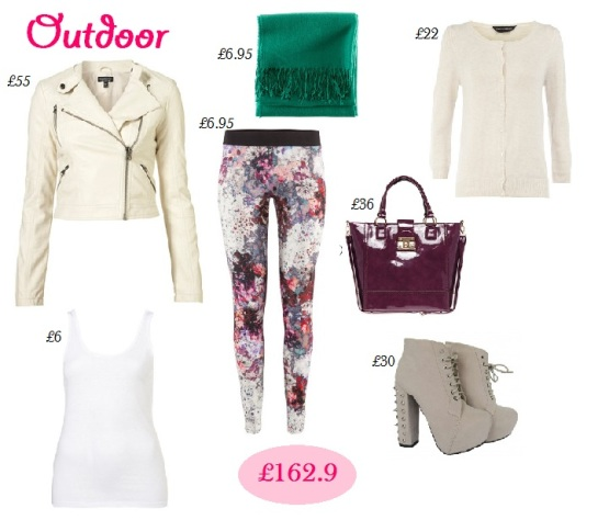 Outdoor outfit, colorful leggings, how to wear colorful leggings