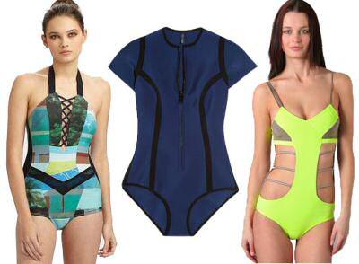 Modern one piece bathing suits: Rag & Bone Elizabeth One-Piece Swimsuit, Lisa Marie Fernandez The Farrah Maillot, Vpl Swimsuit