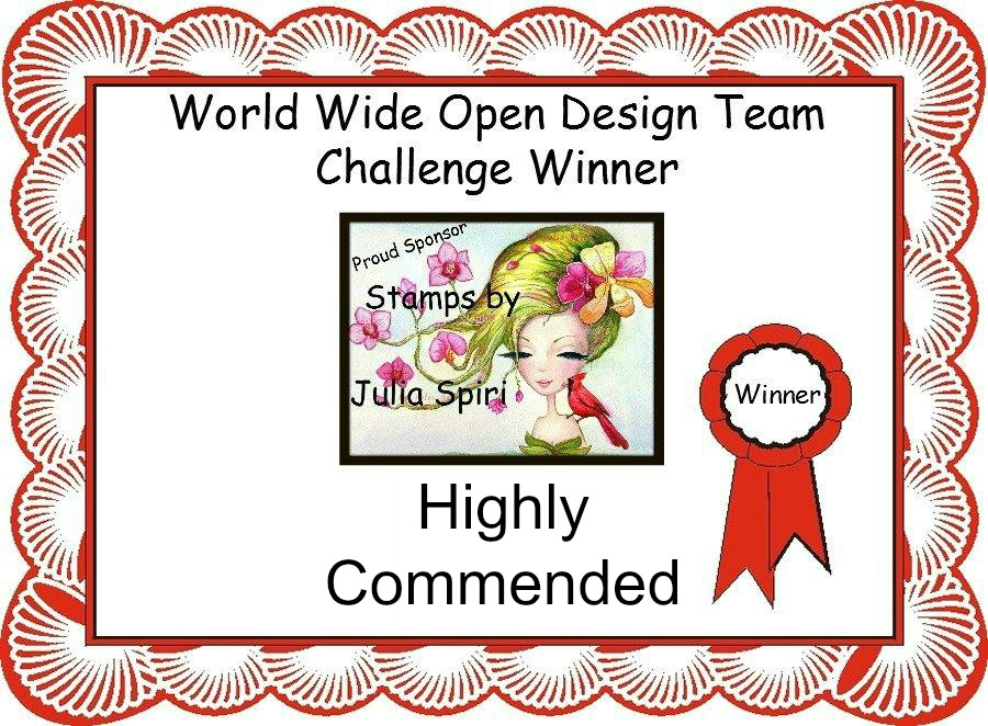 Highly Commended Winner at World Wide Open DT Challenge