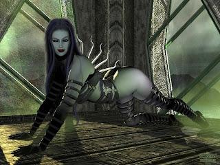 Entranced Dark Gothic Wallpaper