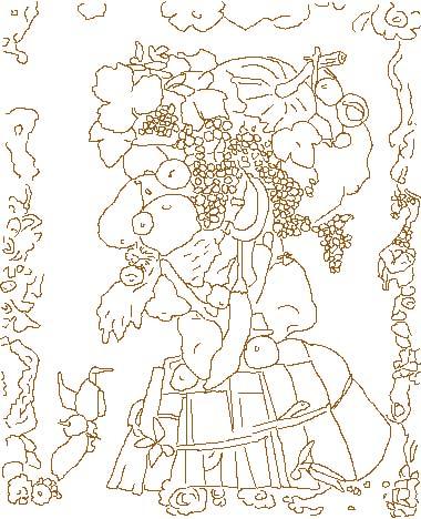 Disegni da colorare di arcimboldo