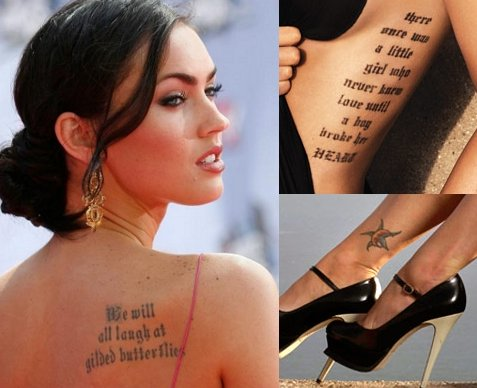 Tatto on Megan Fox Shown Her Tattoo   News And Entertainment