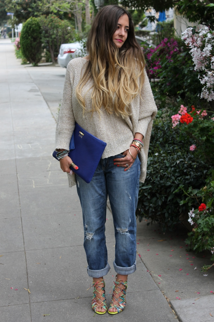 Outfit post prabal gurung sandals boyfriend jeans