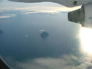 Pulau Luytla Duymun, fenomena pulau berkabut dan berawan