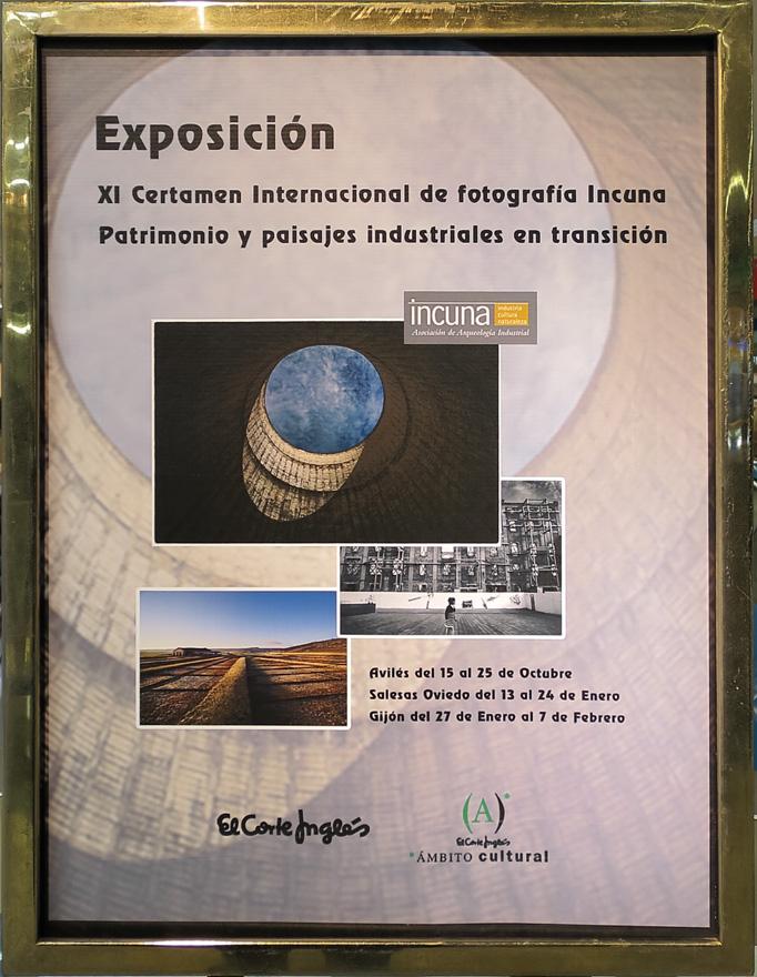Cartel de la exposición de Incuna en el Corte Inglés