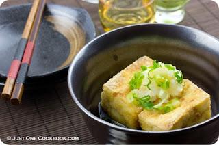 Japanese Menu Agedashi Tofu
