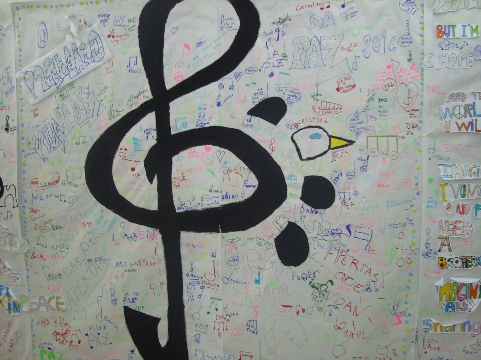 Mural da Paz de Música e Inglés!!