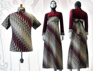 Model Baju Batik Couple Muslim