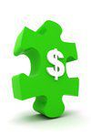 dollar sign / puzzle piece icon