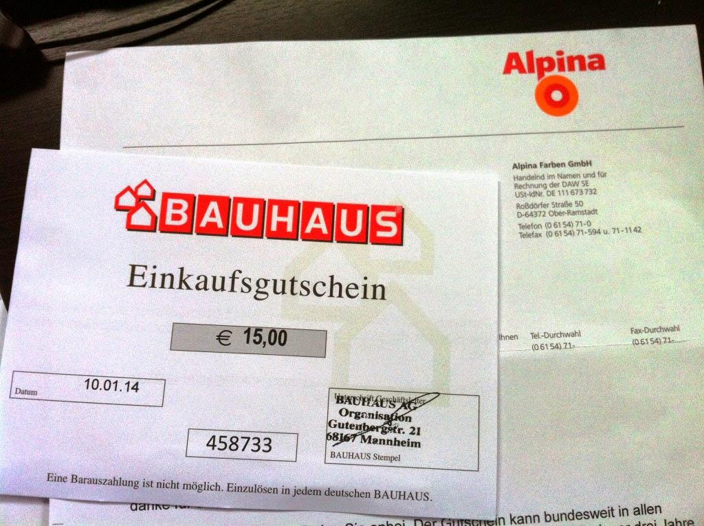 Abenteuer Hausbau: Bauhaus-Alpina-Gutschein