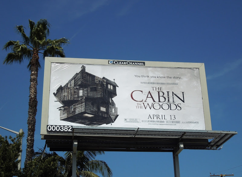 The Cabin in the Woods movie billboard