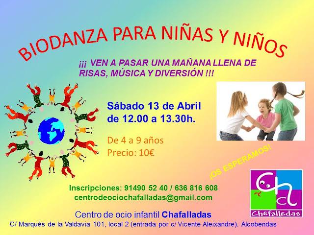 Biodanza infantil en Chafalladas