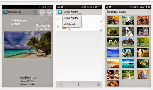 download Aplikasi 4Shared buat Android Gratis