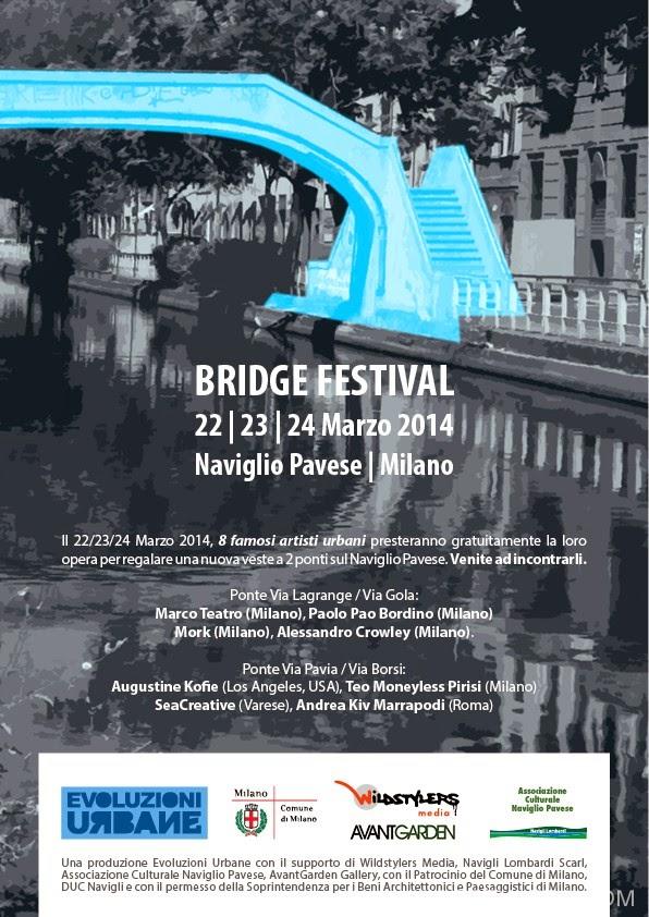 Bridge Festival a Milano da sabato 22 marzo