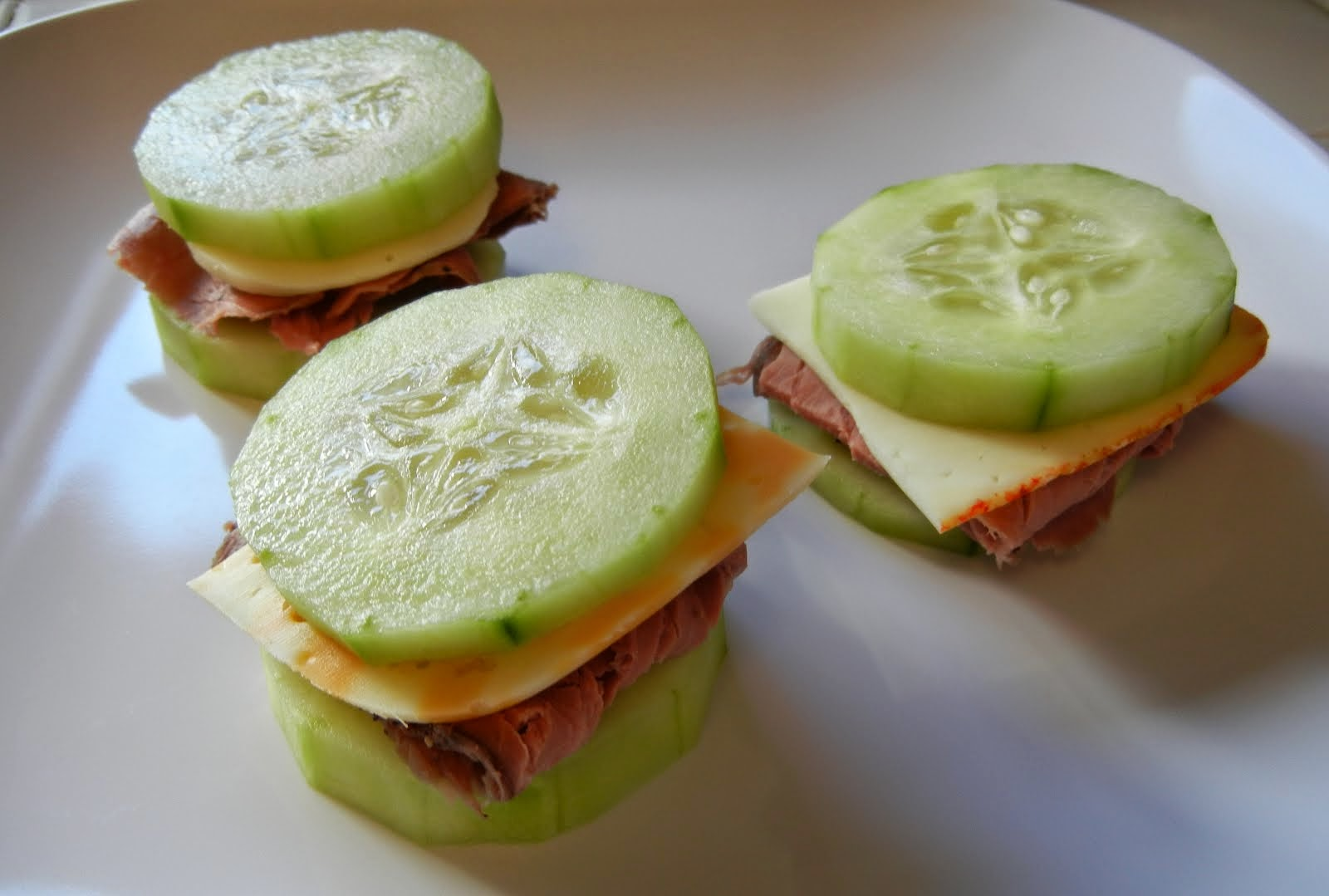 Cucumber+Sandwiches+Roast+Beef+Cheese+Eggface Weight Loss Recipes A ...