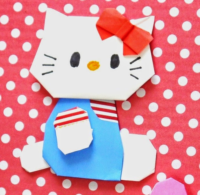 簡単 折り紙 折り紙 キティちゃん 折り方 : origami-love.blogspot.com