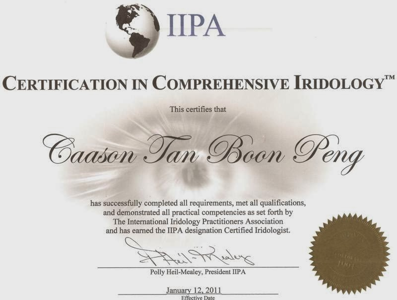 Certified Comprehensive Iridologist