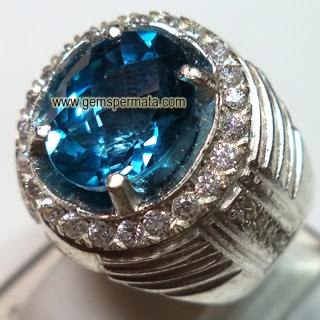 batu blue topaz london, jual blue topaz harga murah