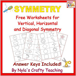 Free Math Worksheet Symmetry