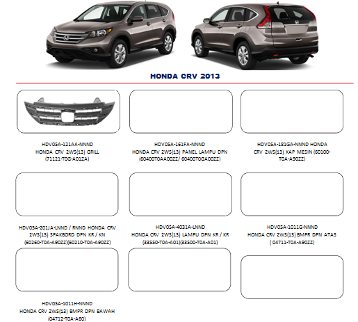 Bemper Honda CRV 2013