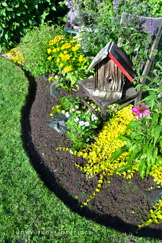 How to edge flowerbeds like a pro! via Funky Junk InteriorsFunky ...