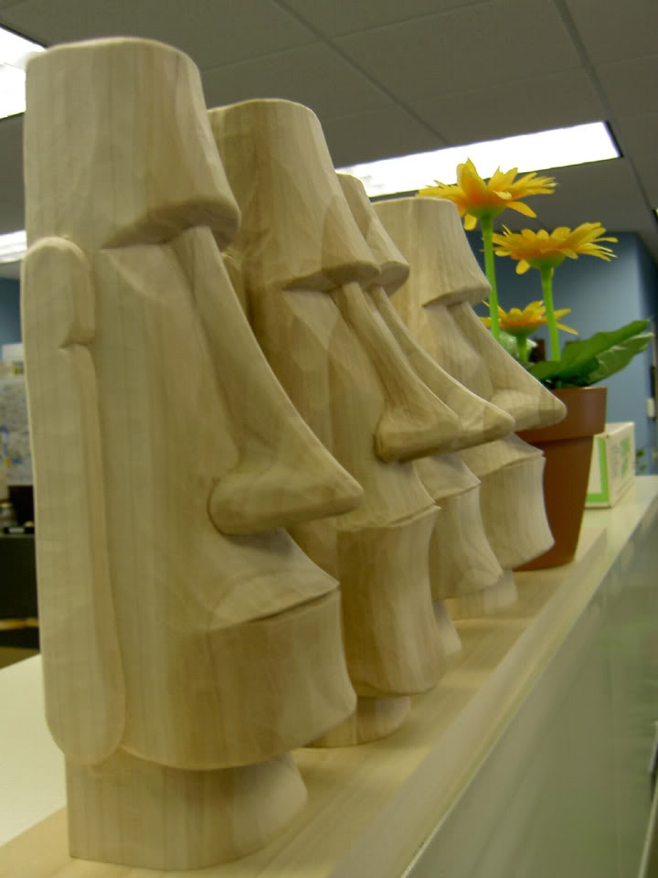 Kw monsters of evil easter island moai head carvings
