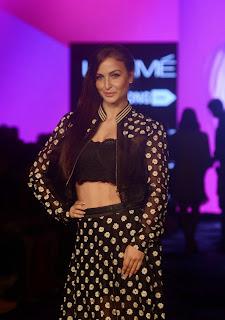 Actress Elli Avram Pictures at Lakme Fashion Week 2015 3.jpg