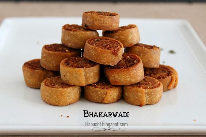 Spusht | Crispy savory spicy snack bakarwadi Roll