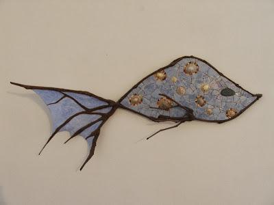 panneau décoratif branches de vigne et mosaïque sur commande par mimi vermicelle
